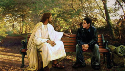 Jesus talking to youth