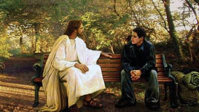 Jesus talking to youth